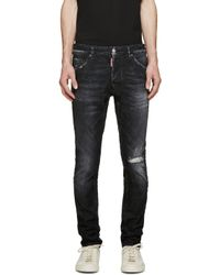 DSquared² - Black Faded & Distressed Cool Guy Jeans for Men - Lyst