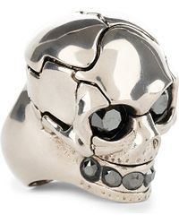 Alexander McQueen | Metallic Puzzle Skull Ring, Men's, Size: M, Silver | Lyst
