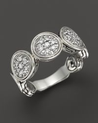 John Hardy | Metallic Diamond Pavé & Sterling Silver Wide Dot Ring | Lyst
