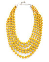 Zad Fashion Inc. | Yellow You Bijou Necklace In Saffron | Lyst