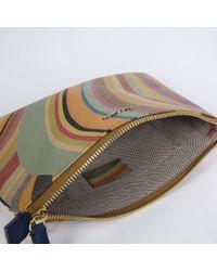 Paul Smith   Metallic 'Swirl' Print Calf Leather Chain Purse   Lyst