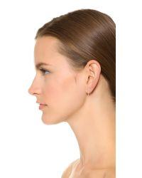 Phyllis + Rosie | Metallic Mini Chain Hoop Earrings - Gold | Lyst
