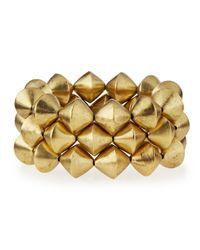 Nest   Metallic 22k Gold-plated Nugget Stretch Bracelet   Lyst