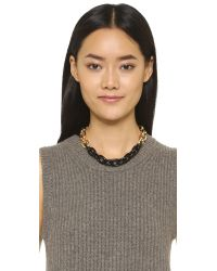 Sam Edelman | Colorblock Link Necklace - Black/gold | Lyst