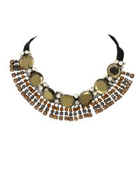 Marni | Green Strass Evening Necklace | Lyst