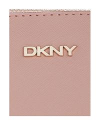 DKNY - Saffiano Light Pink Cross Body With Chain Handle - Lyst