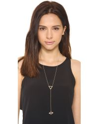 Campbell - Metallic Triangle Lariat Necklace - Lyst