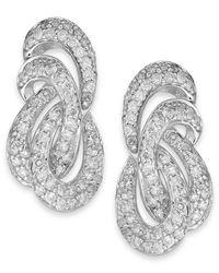 Wrapped in Love - Metallic ™ Diamond Twist Earrings In 14k White Gold (1 Ct. T.w.) - Lyst