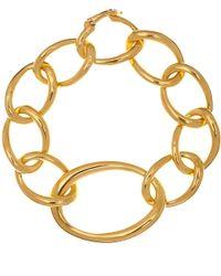 Dinny Hall - Metallic Gold Vermeil Large Link Wave Bracelet - Lyst