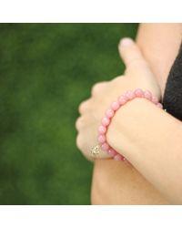 Sydney Evan - Pink Lady Bug Beaded Bracelet - Lyst
