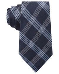 DKNY | Blue Plaid Silk Tie for Men | Lyst