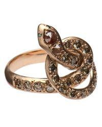 Ileana Makri | Metallic 'berus' Diamond Coiled Snake Ring | Lyst