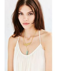 Urban Outfitters | Metallic Swinging Jade Layer Necklace | Lyst