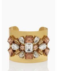 kate spade new york | Metallic Crystal Arches Statement Cuff | Lyst