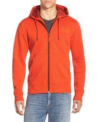 Arc'teryx Orange 'dollarton' Trim Fit Full Zip Hoodie for men