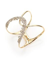 Alexis Bittar | Metallic Miss Havisham Liquid Pavé Crystal Jagged Wave Cuff Bracelet | Lyst