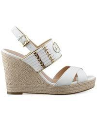 Tommy Hilfiger - Natural Women'S Pleasant Platform Wedge Sandals - Lyst