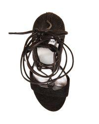 Stuart Weitzman - Black The Legwrap Sandal - Lyst