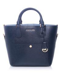 MICHAEL Michael Kors - Blue Large Greenwich Tote Bag - Lyst