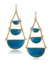 Carolee | Bayou Blues Teardrop Chandelier Earrings | Lyst