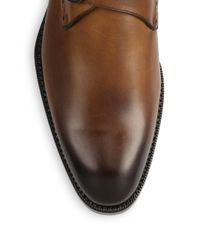 Ermenegildo Zegna - Brown Burnished Leather Monk-strap Shoes for Men - Lyst