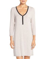 DKNY | Gray 'chrystie' Sleep Shirt | Lyst