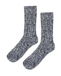 TOPSHOP - Blue Chunky Knit Socks - Lyst