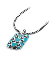 David Yurman - Blue Tag With Turquoise for Men - Lyst