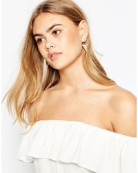 ASOS - Metallic Semi Precious Swing Earrings - Lyst