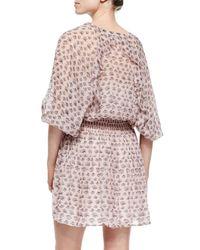 Rebecca Minkoff - Pink 3/4-sleeve Shadow Dress - Lyst