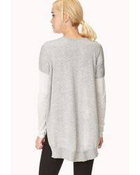Forever 21 - Gray Off Duty V-neck Sweater You've Been Added To The Waitlist - Lyst