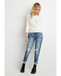 Forever 21 | Natural Textured Raglan Sweater | Lyst