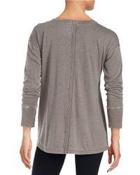 Calvin Klein | Gray Mock Layered Top | Lyst