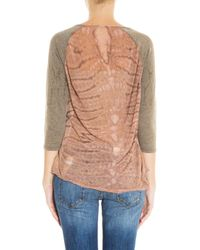 Raquel Allegra - Pink Shredded Back Top - Lyst