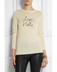 Bella Freud - White Love Hate Wool Sweater - Lyst