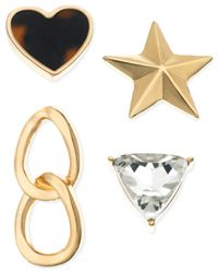 Guess | Metallic Gold-tone Mixed Stud Earring Set | Lyst
