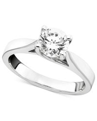 Macy's | Certified Diamond Engagement Ring In 14K White Gold (1-1/4 Ct. T.W.) | Lyst