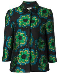 SUNO - Green Embroidered Wool-Blend Jacket  - Lyst