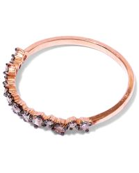 Suzanne Kalan - Pink Rose Gold Starburst Diamond Ring - Lyst