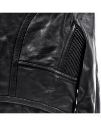 Linea Pelle | Black Triple Zip Crop Jacket | Lyst