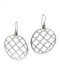 John Hardy - Metallic Naga Gold Silver Large Round Earrings - Lyst