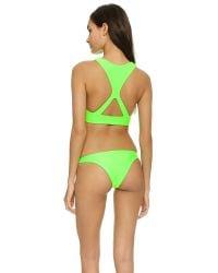Mikoh Swimwear - Green Barbados Bikini Top - Lime - Lyst