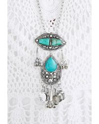 Forever 21 | Blue Raga Longline Faux Turquoise Necklace | Lyst