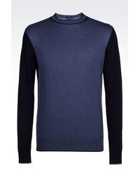 Armani Jeans | Blue Jumper In Cotton Blend for Men | Lyst