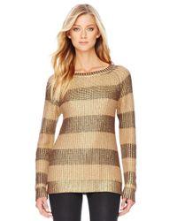 Michael Kors | Metallic Striped Sweater | Lyst