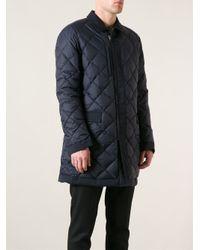 Ferragamo - Blue Quilted Coat for Men - Lyst