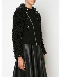 Comme Des Garçons Noir Kei Ninomiya - Black Textured Biker Jacket - Lyst
