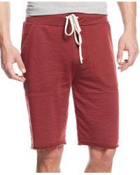 Alternative Apparel - Red Victory Drawstring Shorts for Men - Lyst