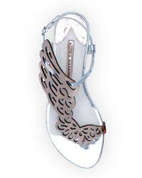Sophia Webster - Metallic Seraphina Butterfly-wing Flat Sandal - Lyst