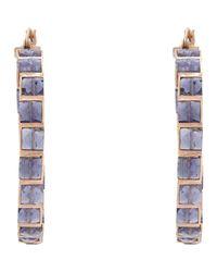 Nak Armstrong - Purple Women's Gemstone Hoops - Lyst
